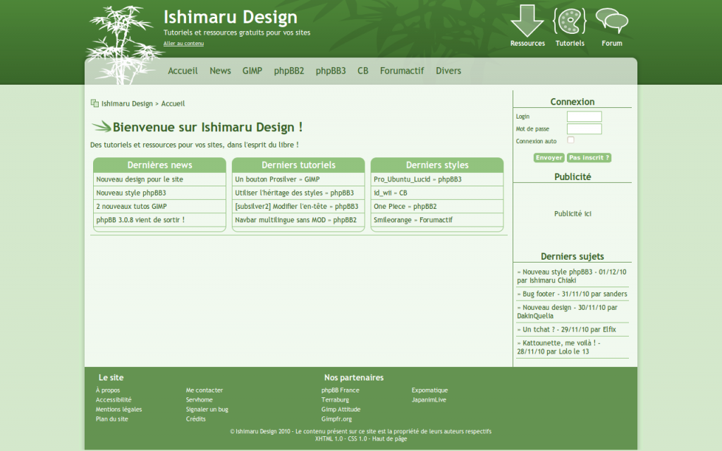 Aperçu du futur webdesign de mon site de graphisme