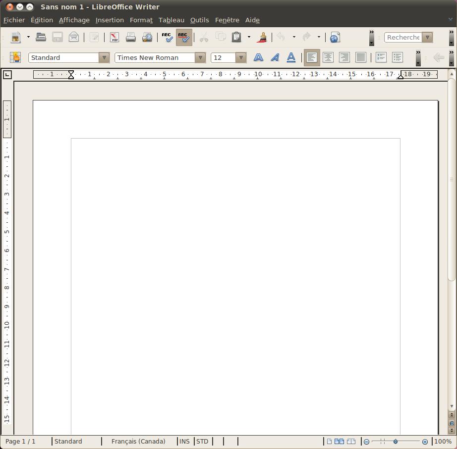 LibreOffice Writer en français